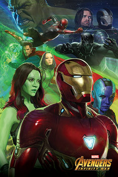Poster  Avengers Infinity War - Iron Man