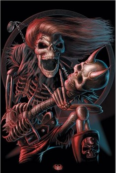 Póster 3D BAD TO THE BONE - 3D