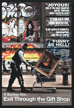 Banksy Street Art - Exit Through The Giftshop poster, Immagini, Foto