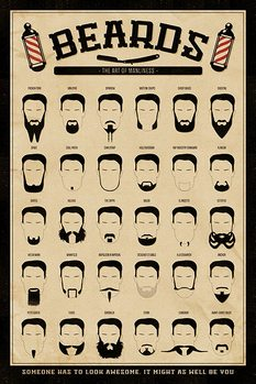 Póster  Barbas - The Art of Manliness