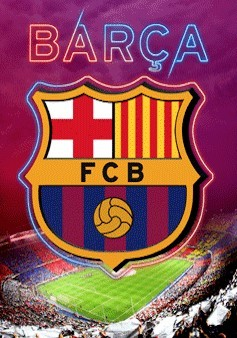 Barcelona - crest Poster 3D
