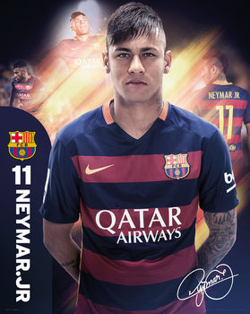 Póster  Barcelona - Neymar 15/16