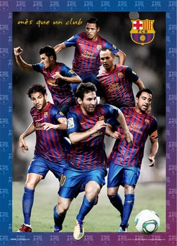Barcelona - players 2012 Poster