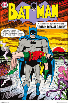 Póster Batman Comic - Robin Dies at Dawn