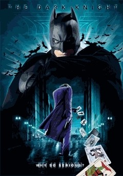 BATMAN DARK KNIGHT - 3D Poster 3D
