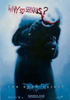 Poster BATMAN: The Dark Knight - Il cavaliere oscuro - Joker Why So Serious? (Heath Ledger)