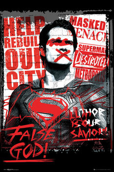 Póster Batman v Superman: Dawn of Justice - Superman False God