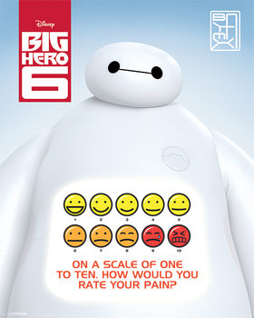 Poster Baymax: Riesiges Robowabohu - Rate Your Pain