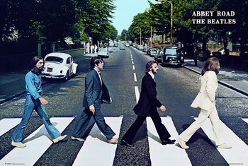 Póster  Beatles - abbey road