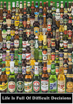 Beer - life is full ... Poster / Kunst Poster