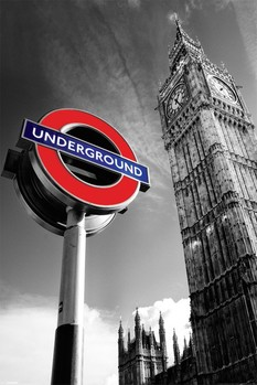 Poster Big Ben & undergroud sign