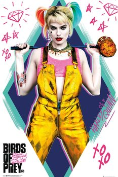 Poster Birds of Prey: e la fantasmagorica rinascita di Harley Quinn - Harley Quinn