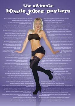 Poster Blonde jokes