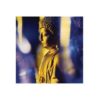 Blue Buddha  Kunstdruk