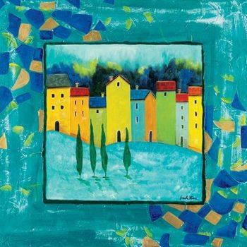 Blue Magenta Kunstdruk