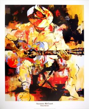 Blues Guitar Kunstdruk