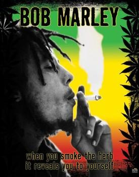 Poster Bob Marley - herb