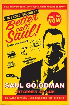 Póster Breaking Bad - Better Call Saul Attorney At Law