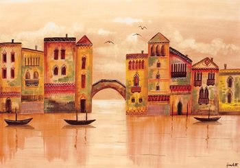 Brown Venice Kunstdruk