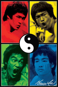 Póster  BRUCE LEE - yin & yang collage