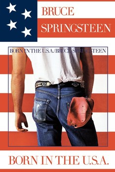 Póster  Bruce Springsteen - born in USA