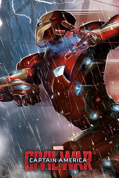 Póster Capitán América: Civil War - Iron Man