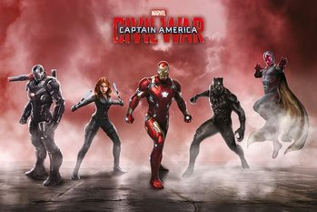 Póster Capitán América: Civil War - Team Iron Man