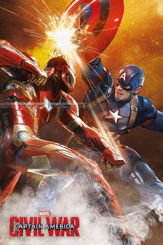 Captain America: Civil War - Fight Poster / Kunst Poster