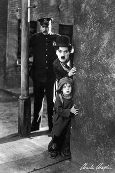Charlie Chaplin - the kid Poster