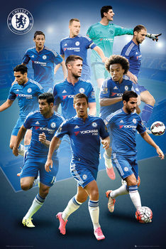Chelsea FC - Players 15/16 Poster / Kunst Poster
