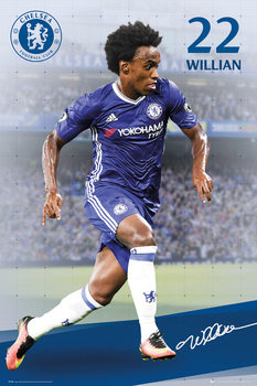Póster Chelsea - Willian 16/17