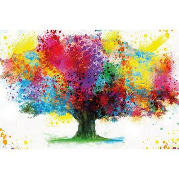 Poster Coloured Tree