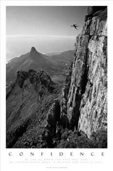 CONFIDENCE - table top mountain south africa Poster / Kunst Poster