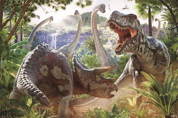 Póster  David Penfound - Dinosaur Battle