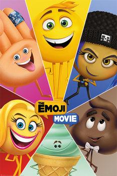 De Emoji Film - Star Characters Poster