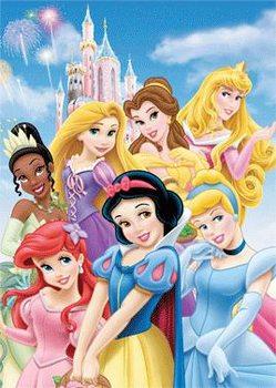 DISNEY PRINSESSEN - castle Poster 3D