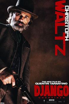 Póster DJANGO UNCHAINED ( Django desencadenado ) - Dr. King Schultz   Christoph Waltz