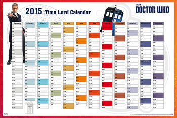 Póster Doctor Who - 2015 Time Lord Calender