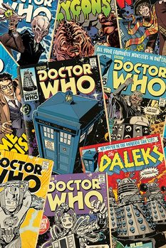 Póster Doctor Who - Comic Montage