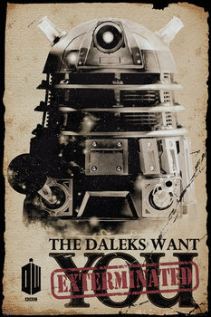 Póster Doctor Who - Daleks Want You