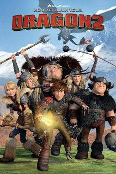 Poster Dragon Trainer 2 - Cast
