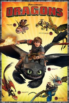 Poster Dragon Trainer 2 - Characters
