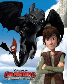 Póster Dragones: Los Jinetes de Mema