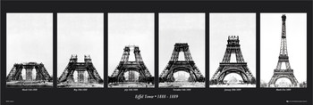 Poster Eiffel tower - construction