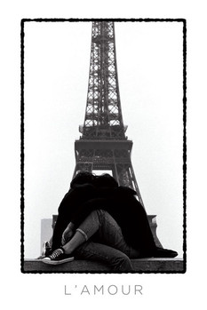 Poster Eiffel tower - l'amour