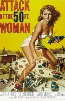 Póster El ataque de la mujer de 50 pies - Teaser