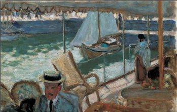 En Yacht Kunstdruk