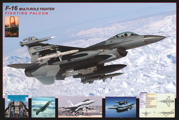 Póster  F16 Fighting falcon - airplane