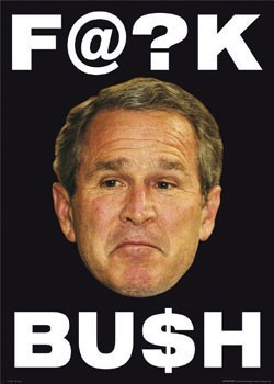 Poster F@ck Bush