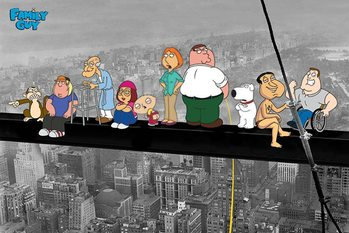 Poster  FAMILY GUY - on a skyscraper